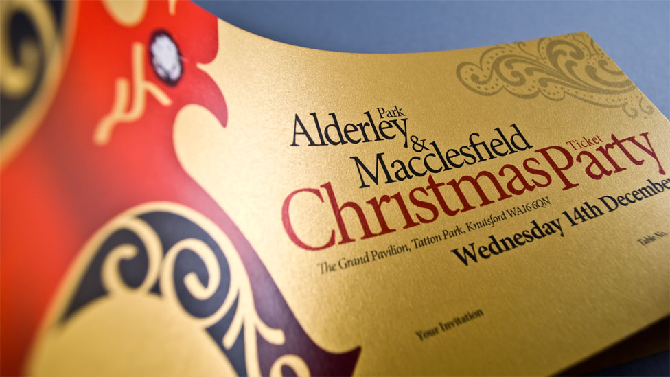 Gold Christmas Invitation Design
