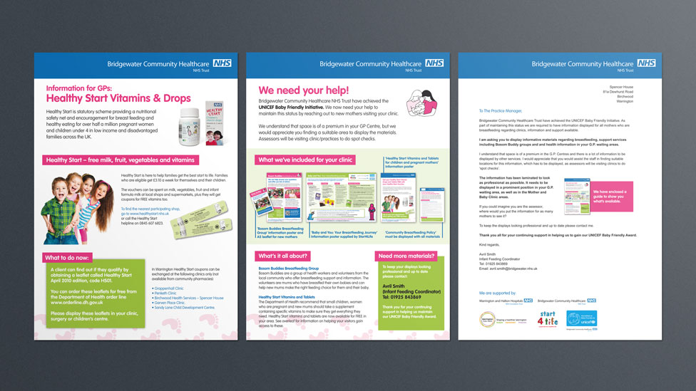 NHS campaign direct mail set