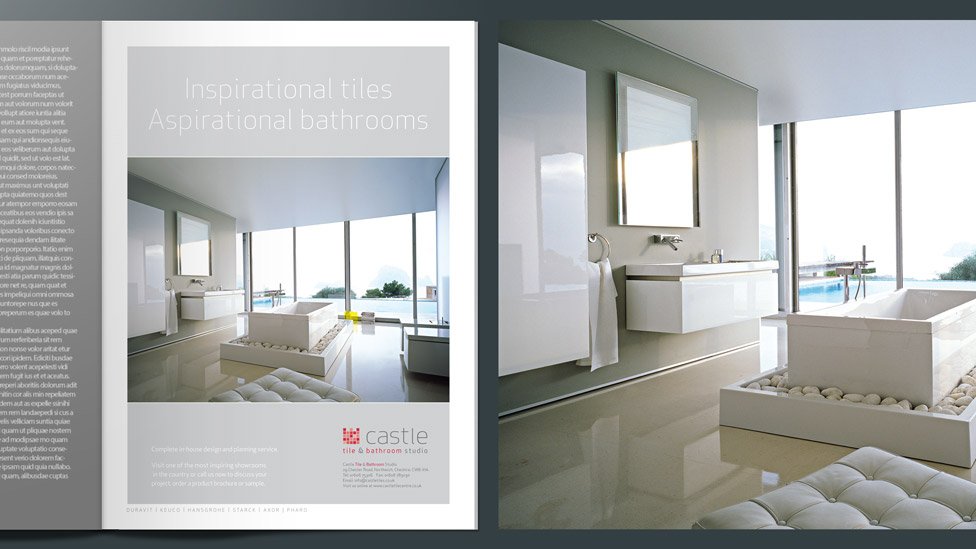 With This Advertising Design Simplicity Was Key With Photography