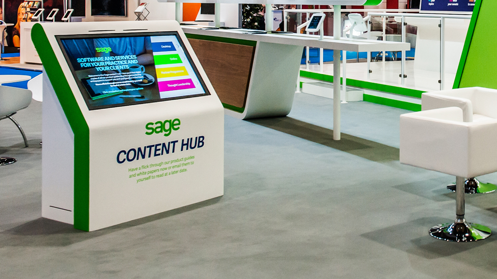 Exhibition Stand With Screen : Trade exhibition stand with screen stock photo picture and