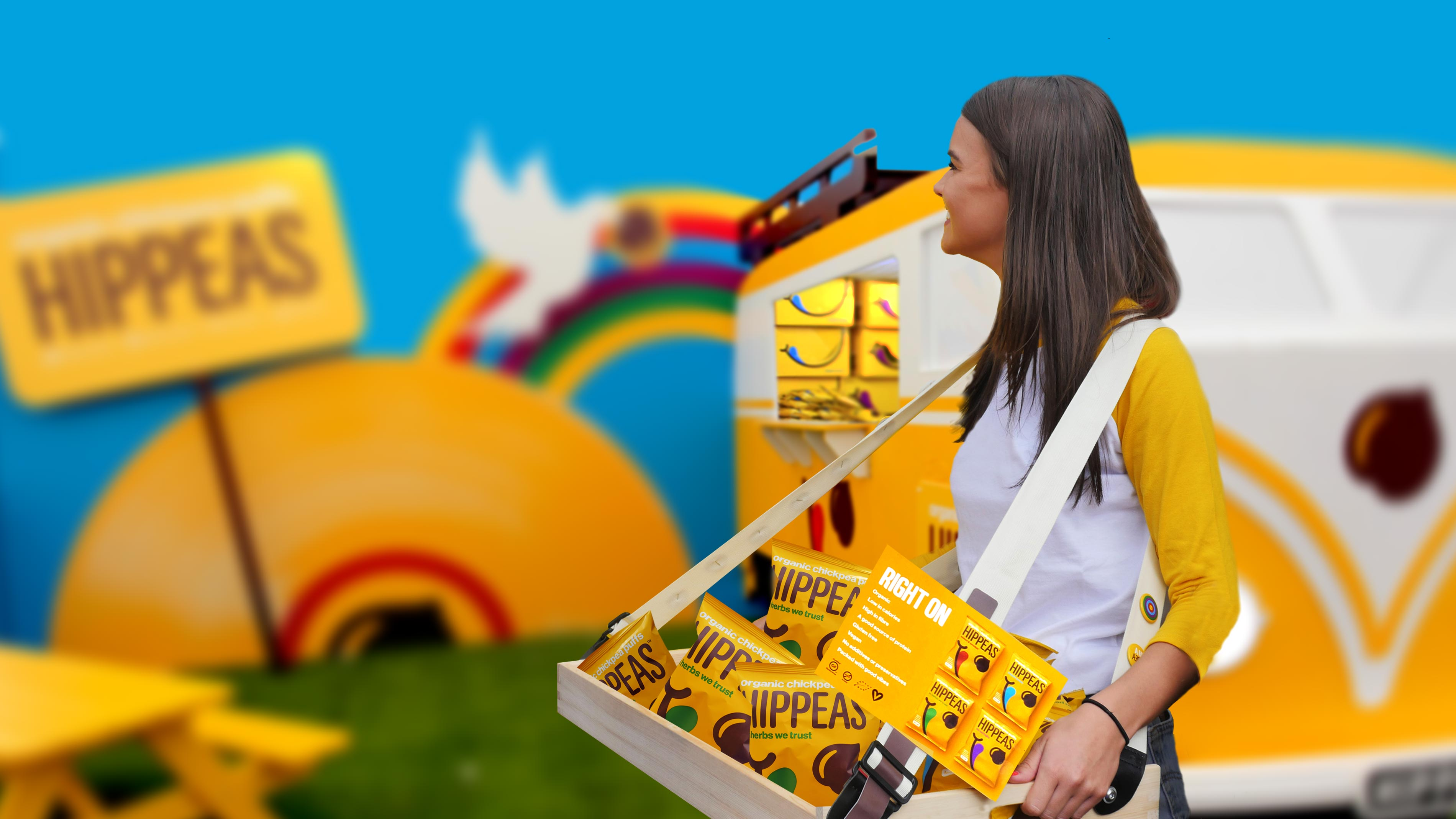 Experiential agency launches healthy snack with 'groovy' camper vans and wall graphics that appeal to the imagination