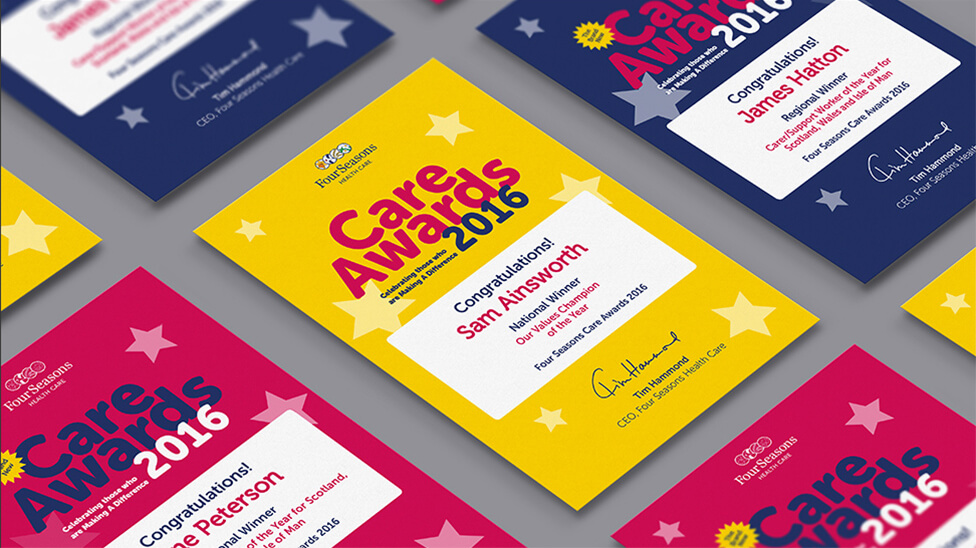 Internal awards collateral design