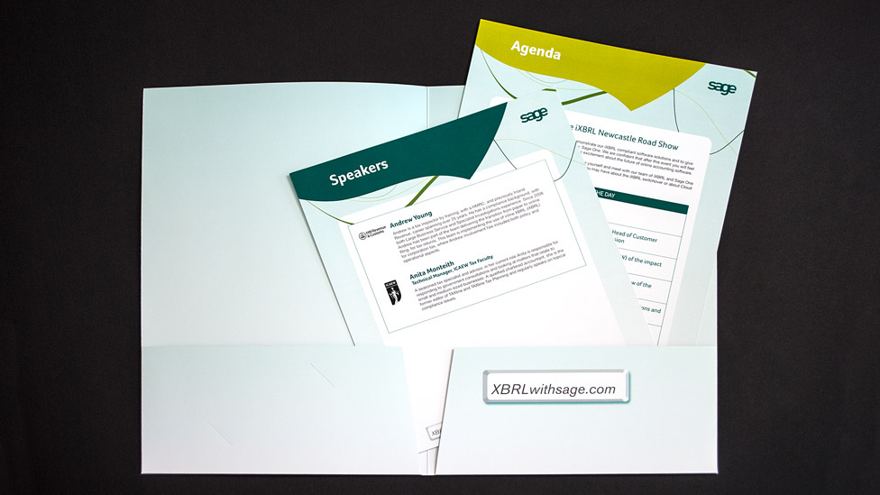 Folder inserts design and print