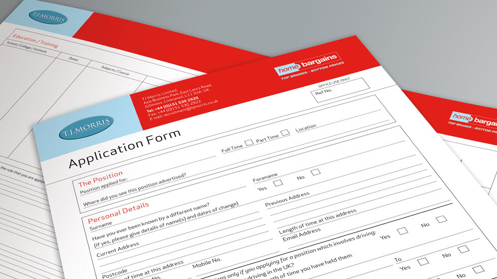 Application Form Design on Interior Design Portfolio Examples