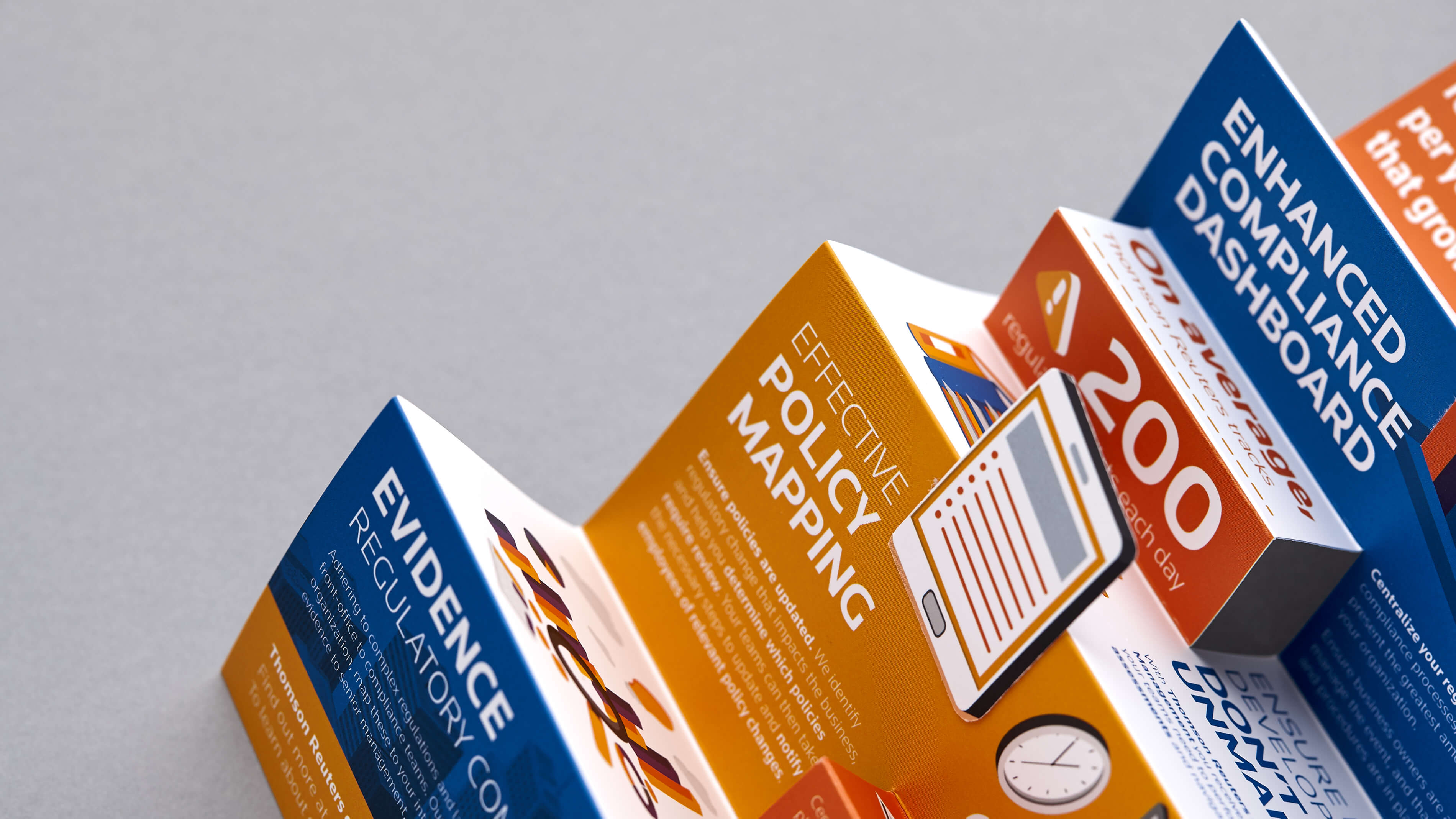 Targeted marketing collateral that's persuasive and visually engaging.