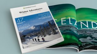 Winter magazine design