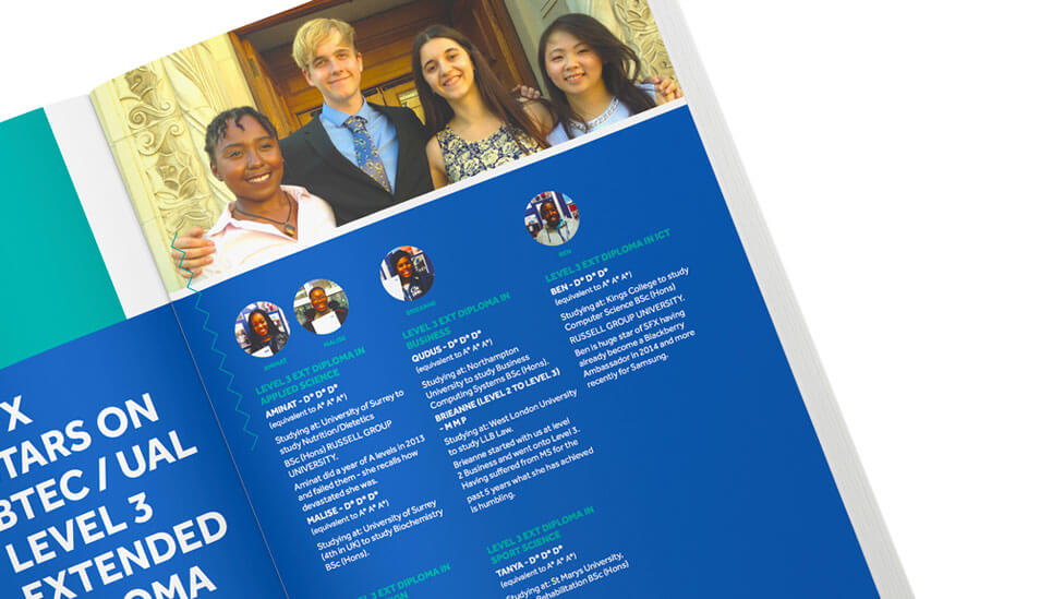 college Prospectus design