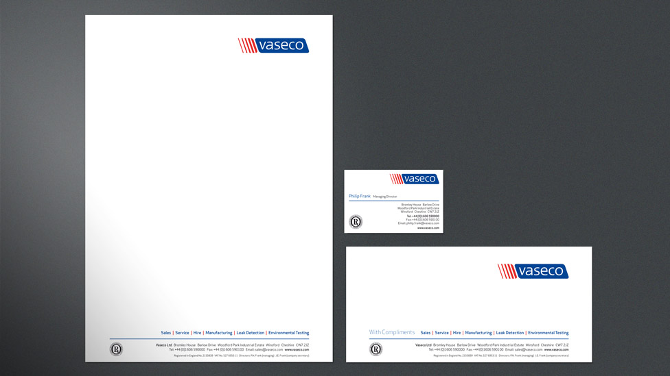 Company stationery design