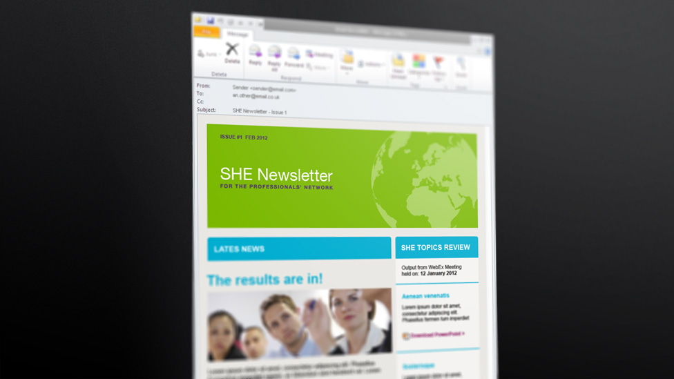 corporate email newsletter
