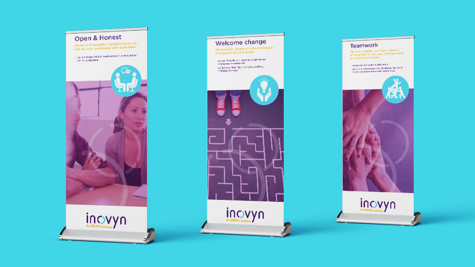 corporate culture roller banners