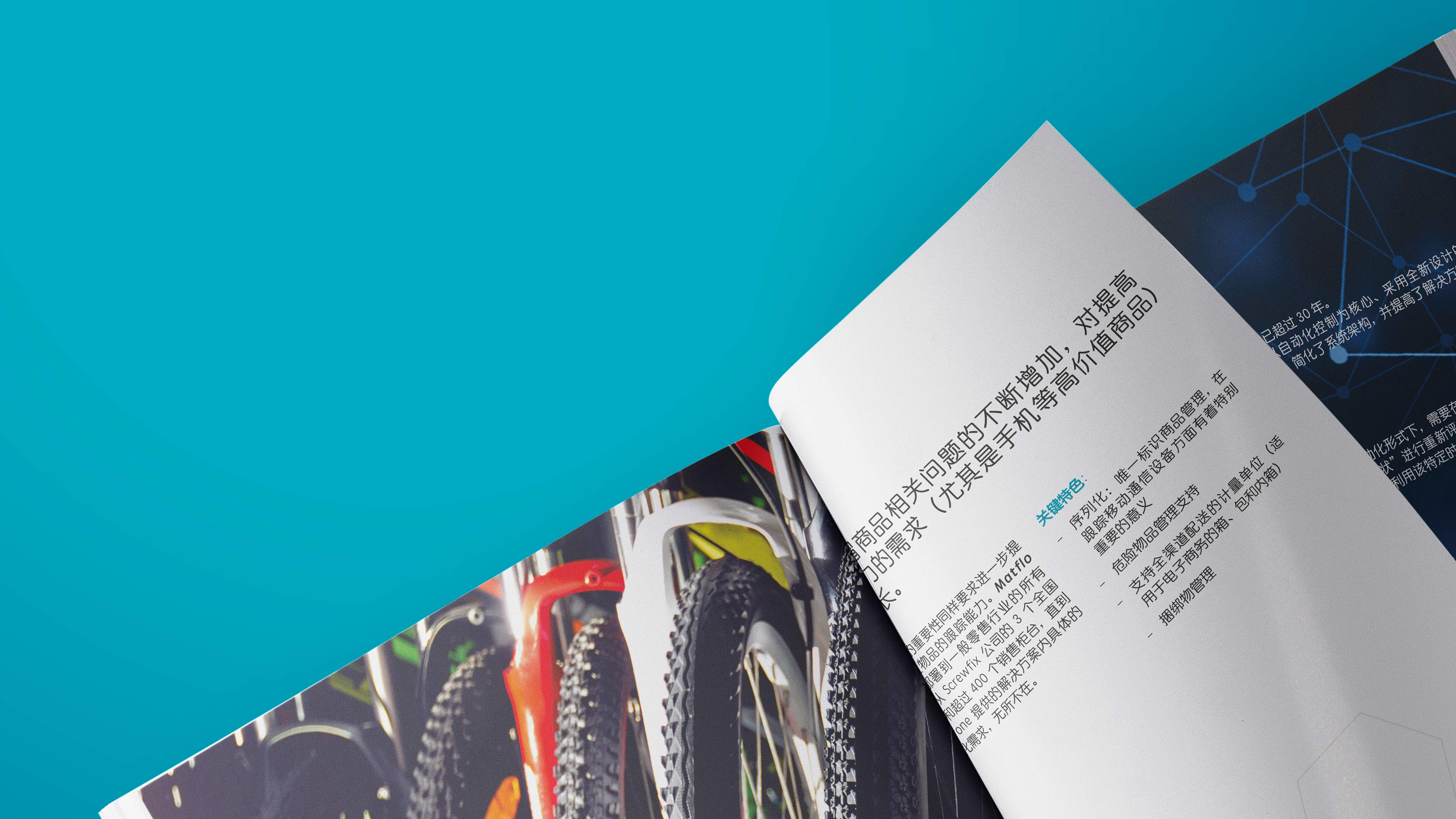Multilingual brochure design for the logistics industry