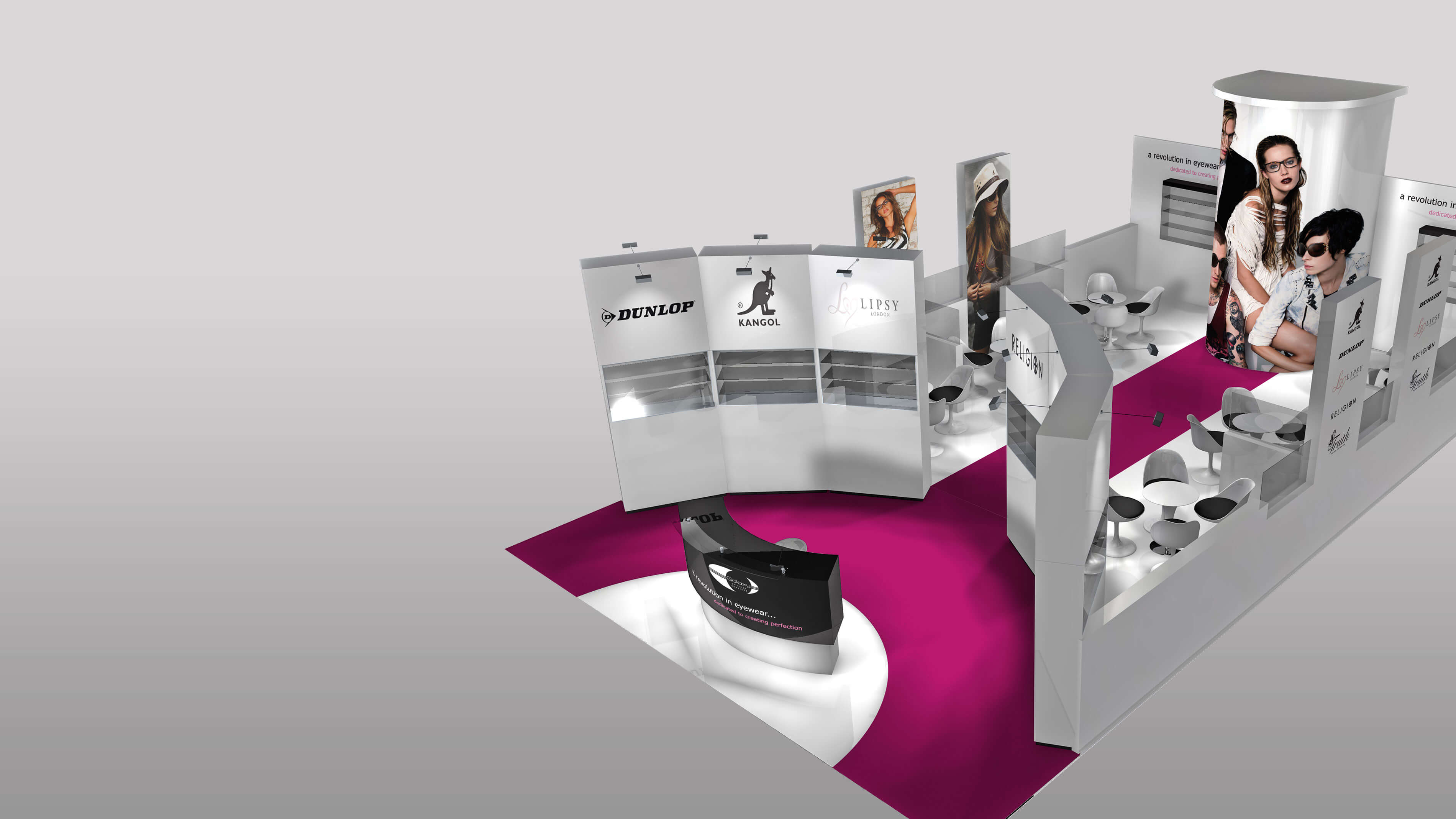 Exhibition stand design to start a revolution