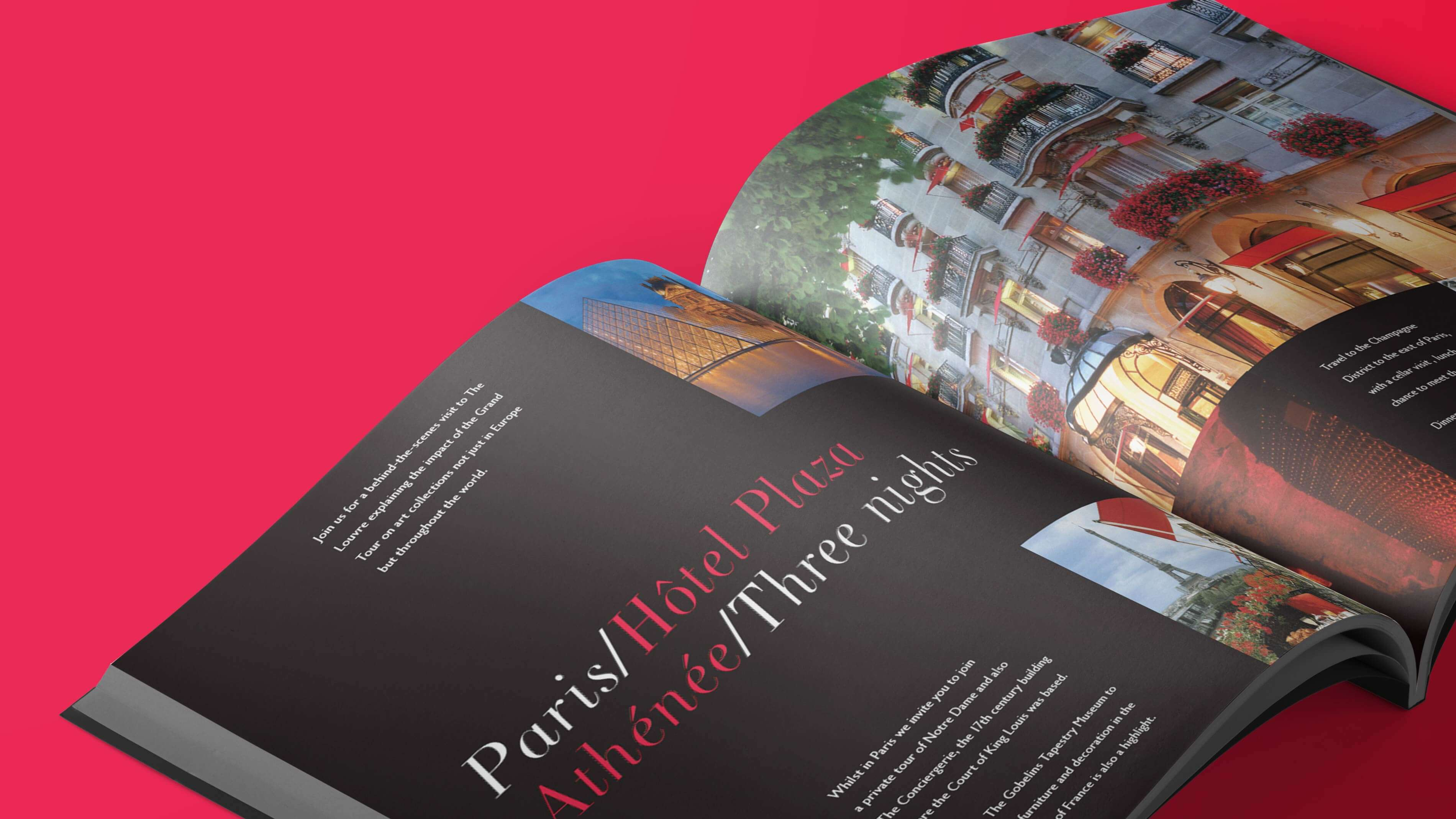 Luxury travel brochure design
