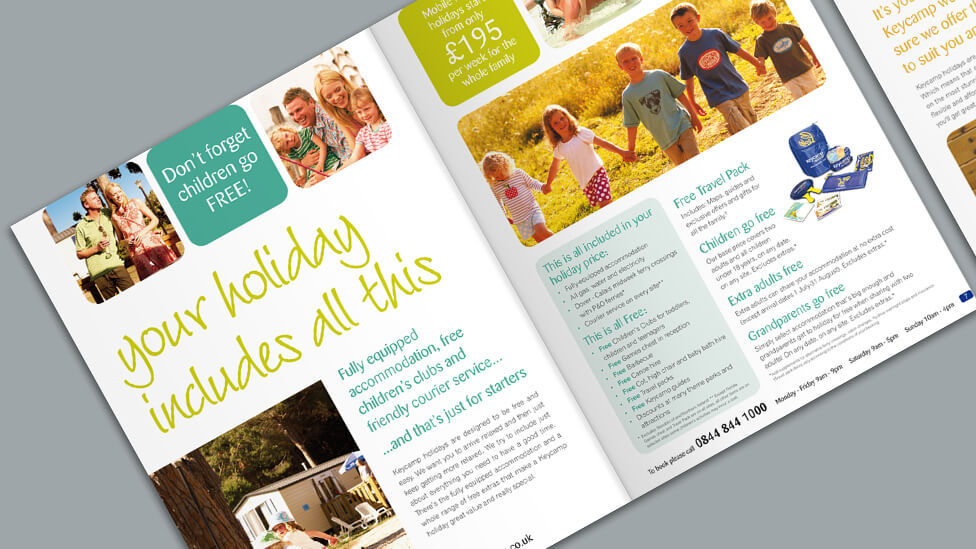 Holiday brochure production