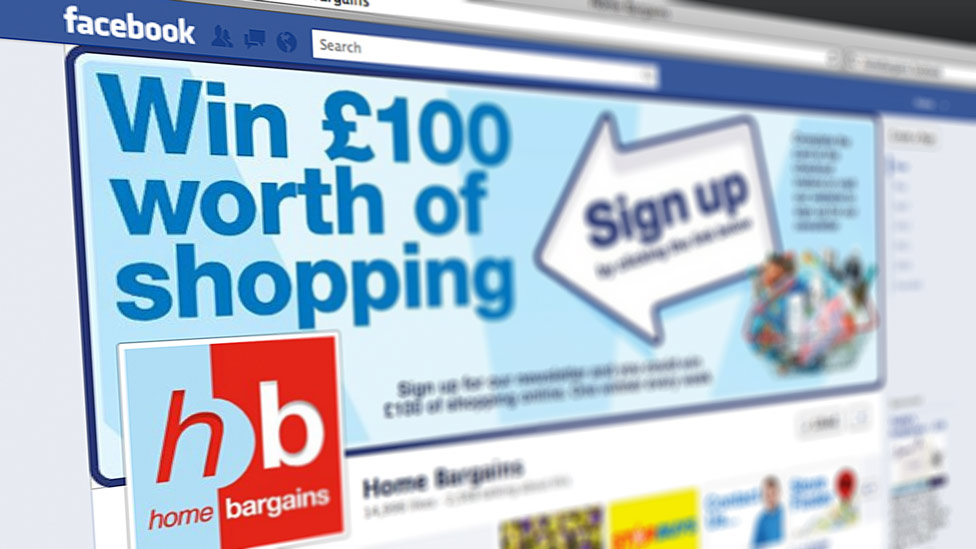 Home Bargains Facebook Web Design Cheshire