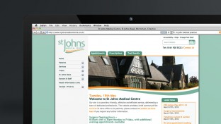 St Johns Medical Practice Web Design