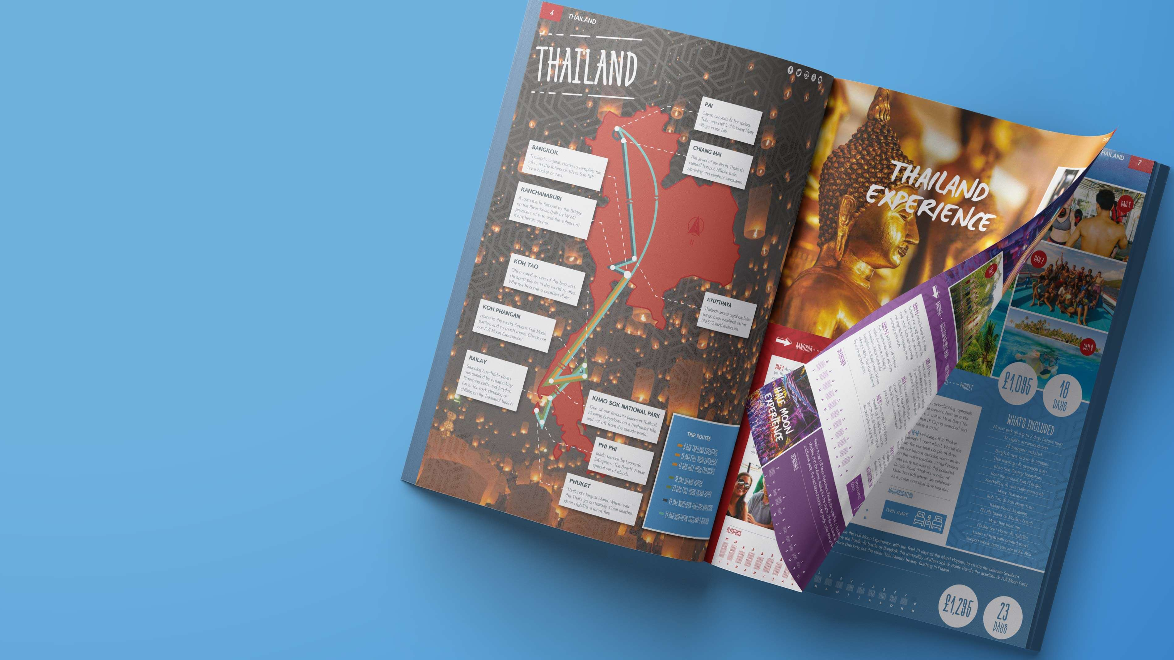Holiday brochure design that transports you