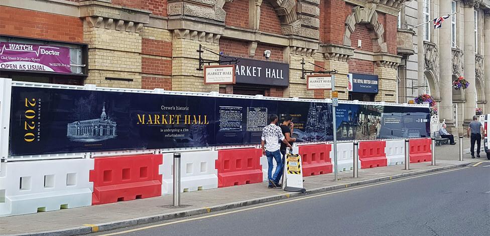 Urban regeneration hoarding